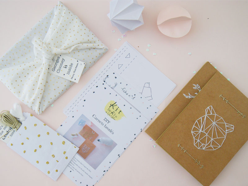 Et si on offrait des kdo diy pour no l kit by klo do it fun fashi - Diy carnet personnalise ...