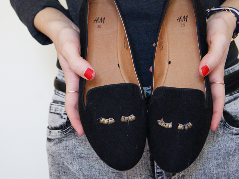 DIY mocassins à cils 10