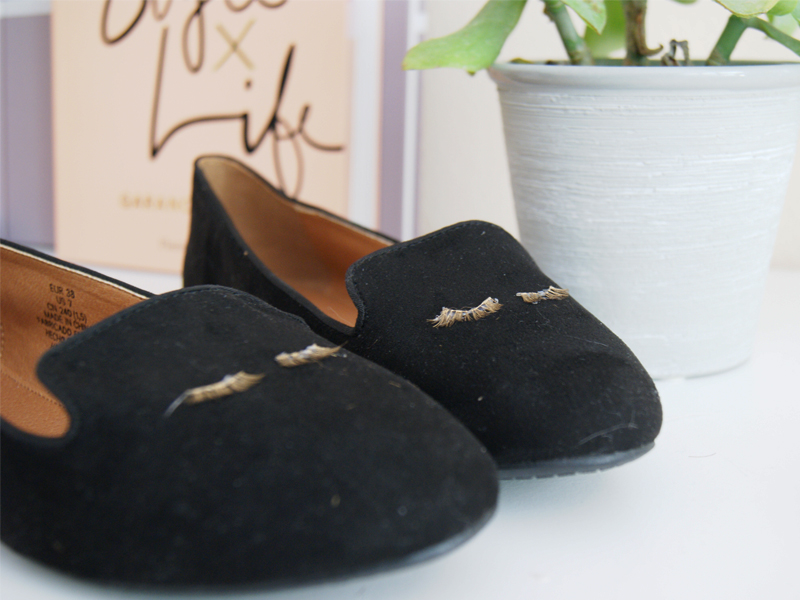 DIY mocassins à cils 9
